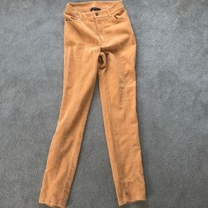 yellow corduroy pants